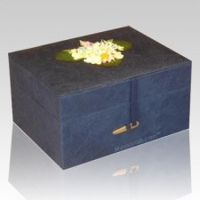 Chest Navy Earth Cremation Urn
