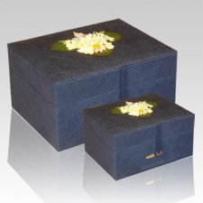 Chest Navy Earth Cremation Urns