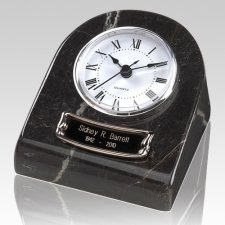 Marble Clock Black Keepsake Urn