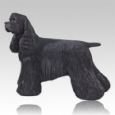 Black Cocker Dog Cremation Urn