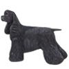 Black Cocker Dog Cremation Urn