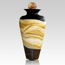 Celestial Black Large Art Urn