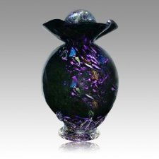 Black Fantasy Glass Cremation Urns