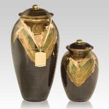 Black Gold Ceramic Cremation Urns