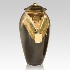 Black Gold Ceramic Urn