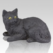 Black Kitty Cremation Urn