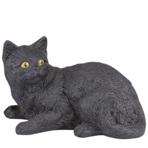 Black Kitty Cremation Urn