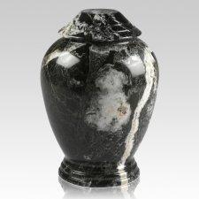 Black Zebra Classica Marble Cremation Urn