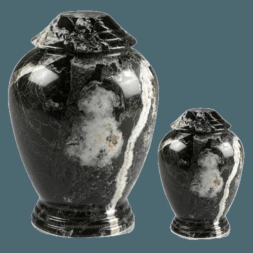 Black Zebra Classica Marble Cremation Urns