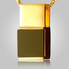 Black Onyx Square Cremation Pendant IV