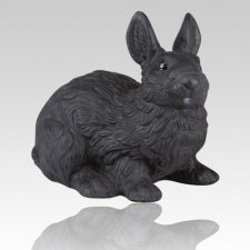 Black Rabbit Cremation Urn