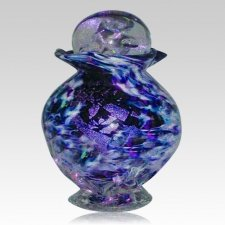 Rainbow Glass Funeral Urn For Two