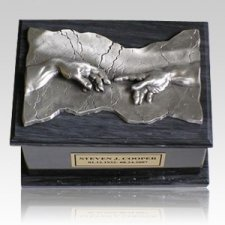 Close to God Black & Silver Cremation Urn