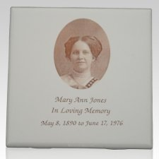 Antique Photo Memorial Tile