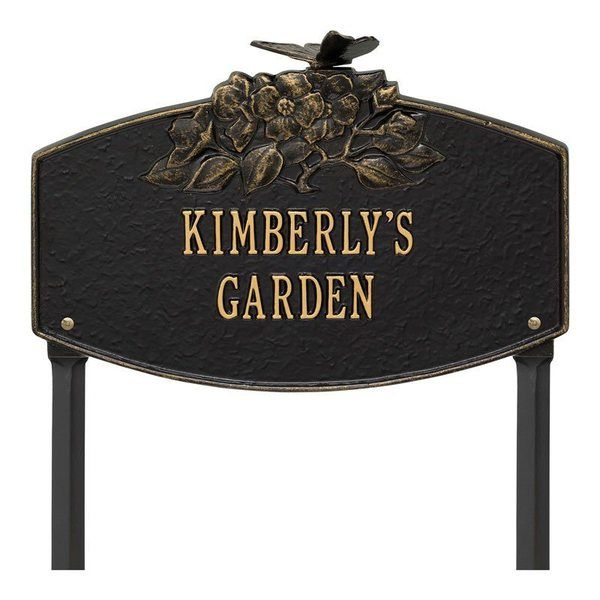 Blossom Garden Black Dedication Plaque