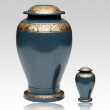 Blue Bloom Cremation Urns