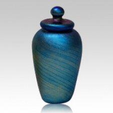 Blue Rythm Keepsake Urn