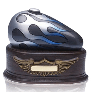 Blue Motorcycle Cremation Urns