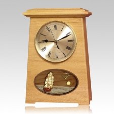 Boat Astoria Clock Oak Cremation Urn