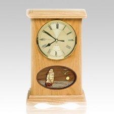 Boat Clock Oak Cremation Urn