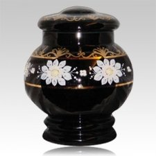 Bohemian Glass Cremation Urn