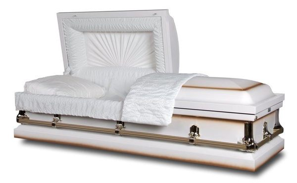 Brewster White Metal Casket