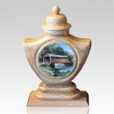 Bridge Ceramic Cremation Urn