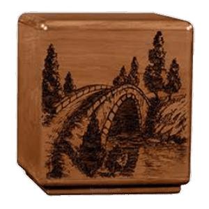 Solemn Bridge Wood Cremation Urn
