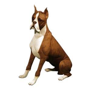 Brindle Boxer Dog Cremation Urn