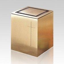 Vintage Cross Children Cremation Urn