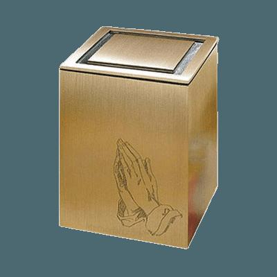 Vintage Praying Hands Children Cremation Urn