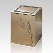 Vintage Wheat Children Cremation Urn