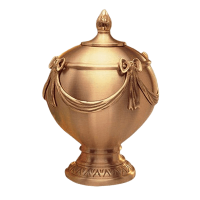 Consolation Polished Bronze Cremation Urn