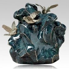 Three Doves Bronze Cremation Urn