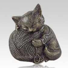 Bronze Cat Cremation Urn
