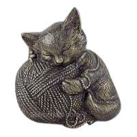 Bronze Cat Cremation Urn