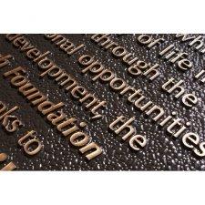 Bronze Plaque