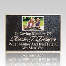 Bronze Plaque with Ceramic Picture