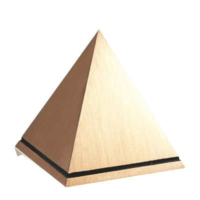 Pyramid Bronze Cremation Urn