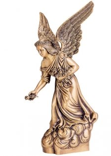 Angel with Rose Bronze Statues