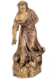 Maria with Roses Bronze Statues