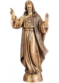 Blessed Jesus Small Bronze Statues