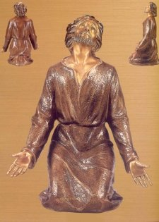 Jesus Praying to Heaven Bronze Statues