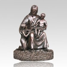Jesus with Children Bronze Cremation Urn