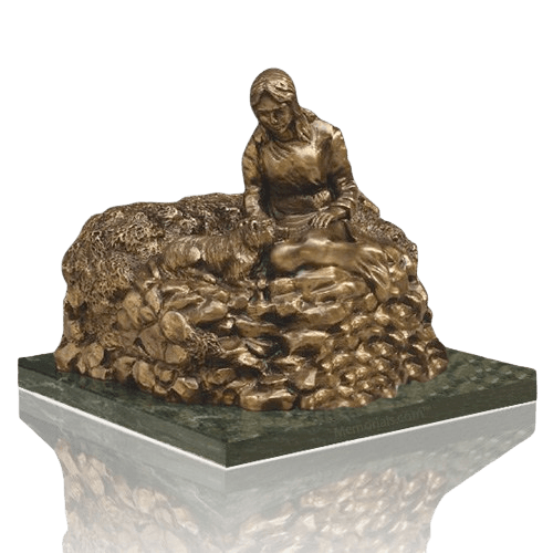 Woman Resting Cremation Urn