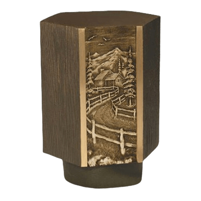 Cottage Road Bronze Cremation Urn