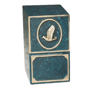 Dove Medallion Bronze Cremation Urn II