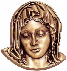 Angel Face Wall Bronze Statues