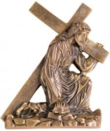 Jesus Carring The Cross Wall Bronze Statues