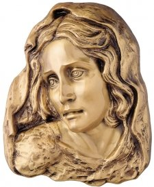 Mother of God Wall Bronze Statues